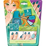 Style Me Up - Magnetic Nail Art-Blue. DIY Craft Kits for Kids - SMU-1657
