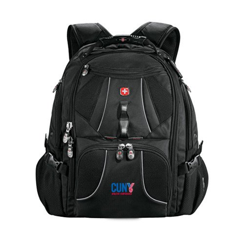 CUNYAC Wenger Swiss Army Mega Black Compu Backpack 'Official Logo' by CollegeFanGear