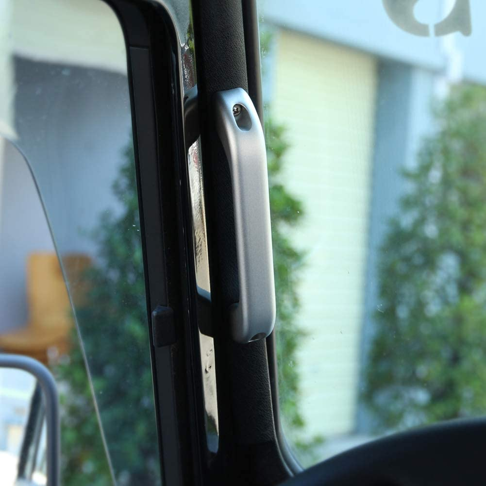 Interior Door Handles Fydun Car Interior Chrome Aluminum Alloy Grab Handle Trim for Defender 110 90 2007-2016
