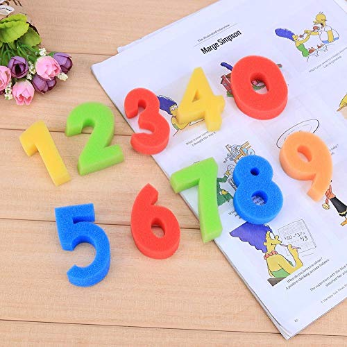 Tcplyn Premium Quality 10PCS Number Sponges Sponge Painting Shapes Stamps Kids Childrens DIY Art and Craft by Tcplyn (Image #5)