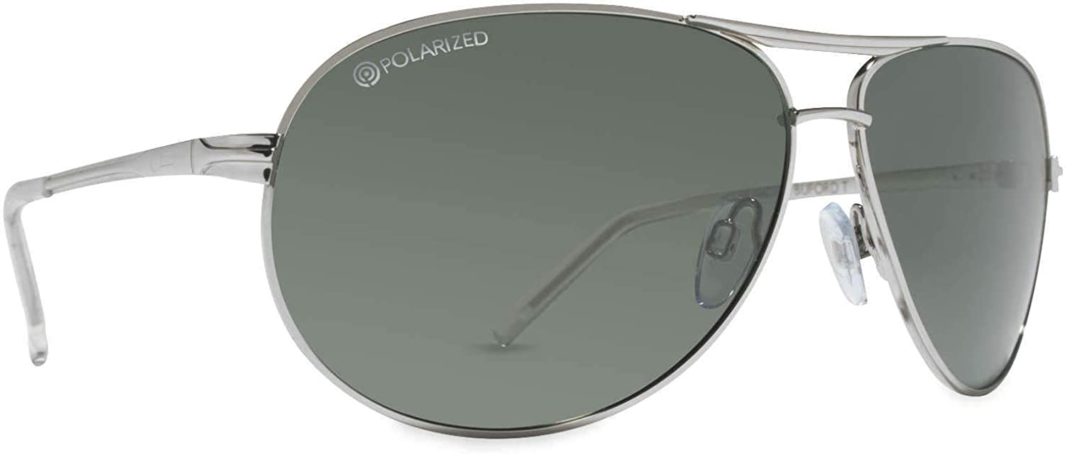 Dot Dash Buford T Polarized Sunglasses,OS,Silver/Grey