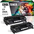 Cool Toner 2Packs Compatible for HP 80A CF280A 80X CF280X Toner Cartridge for HP Laserjet Pro 400 M401A M401D M401N M401DN M401DNE M401DW HP Laserjet Pro 400 MFP M425DN Laser Ink Printer Black