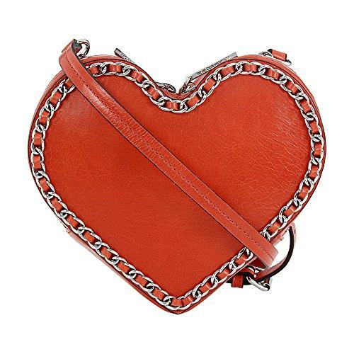 (Rebecca Minkoff Chain Heart Ladies Small Leather Lilac Rose Crossbody Handbag SSP7ECHX26)
