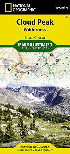 By National Geographic Maps - Tra Cloud Peak Wilderness (National Geographic Trails Illustrated Map) (2007) (Cloud Peak Wilderness Map compare prices)