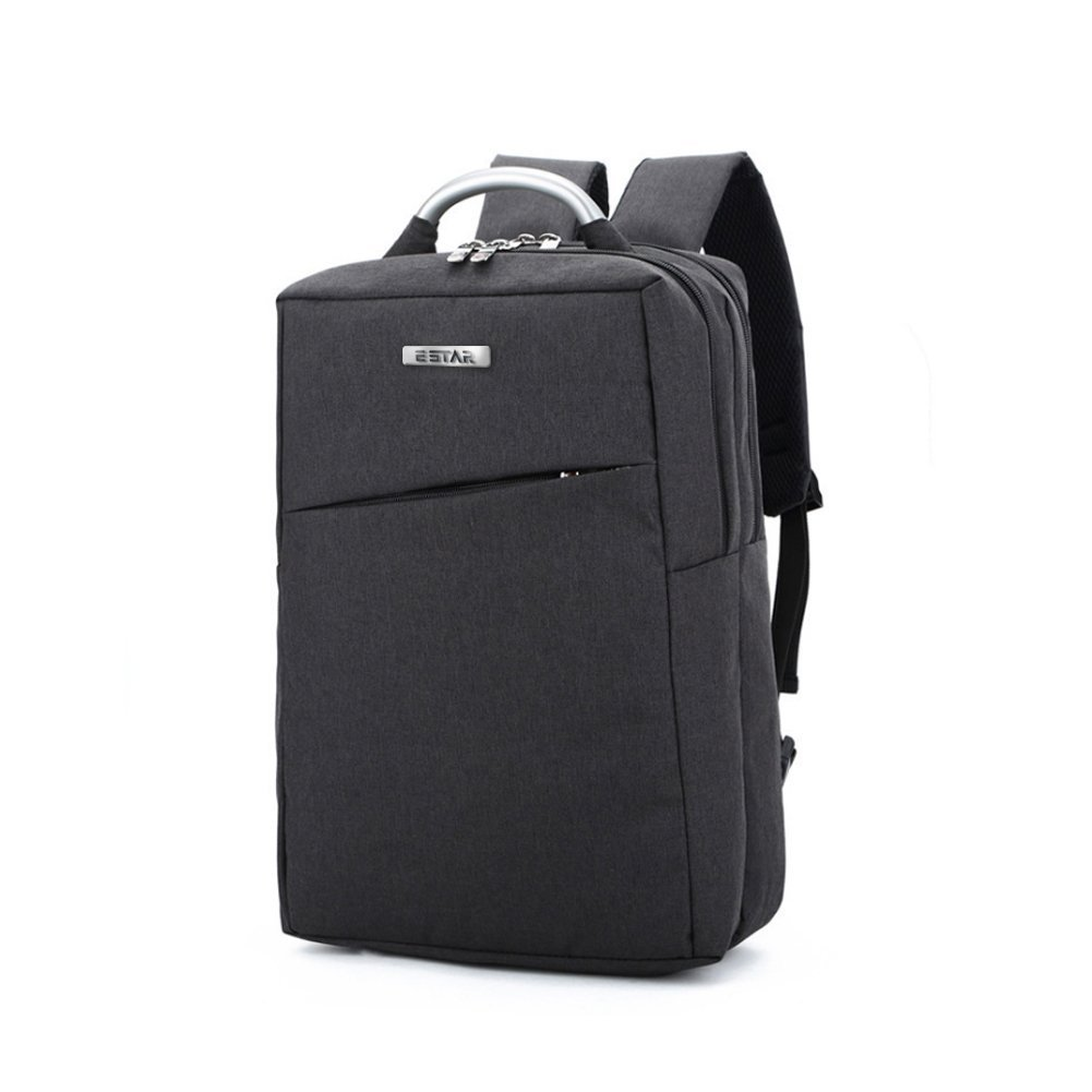 E-Star Laptop Mochila Unisex Business Wear-Resistente Mochila Se Adapta Menos de 15, 6-Inch Laptop y Notebook (Negro) (Gris)