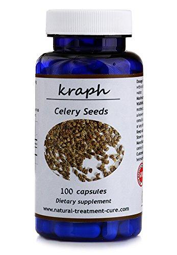 Hekma Center-Organic Celery Seeds- Apium Graveolens- Natural- a Detox- 100 Capsules