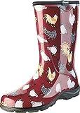 Sloggers Women's Rain and Garden Chicken Print Collection Garden Boots, Size 7, Barn