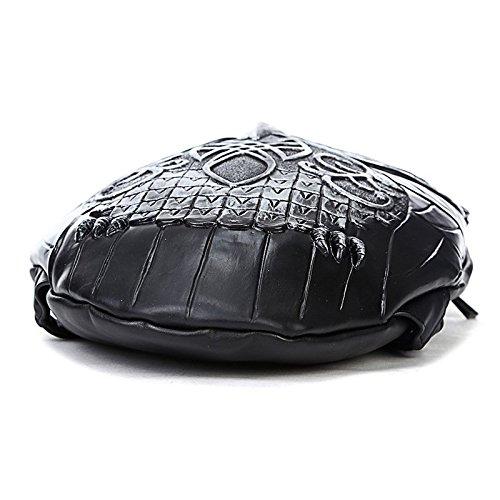 Hombres la 3D mujeres calidad de y mochila mochila realista de de viaje búho PU portátil bandolera la alta animal Silver de computadora HzqrHnpA