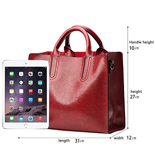borsa spalla retrò borse Messenger a bag moda portafoglio donna PU da Sdinaz Rosso Nuove HU86q6Y