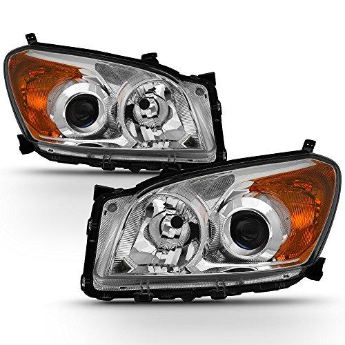 ACANII - For 2009 2010 2011 2012 Toyota RAV4 RAV-4 Projector Headlights lamps Driver + Passenger - Rav4 Toyota Driver Headlight
