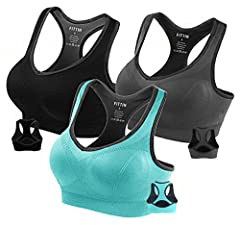 The Fittin Ladies Sports Bra Top was designed to deliver unbelievable athletic performance. Made for mid-impact activities, this super-snug, classic-fitting sports bra is perfect for anything from Pilates and spinning to kickboxing and light ...