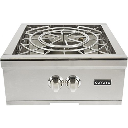 Coyote 24 Inch Built-in Power Burner, Natural Gas- C1PBNG