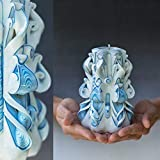 Special Unique Hand Carved Candle for Mothers Day, Passover, Easter and Mother in law Birthday Gift For Her Handmade shop