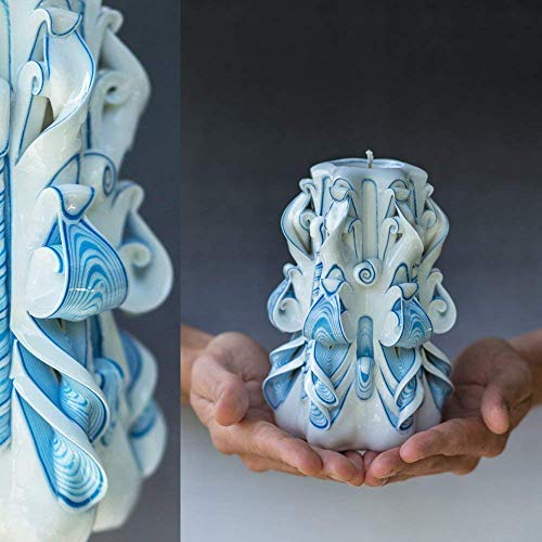 Special Unique Hand Carved Candle For Mothers Day Passover Easter And Mother In Law
