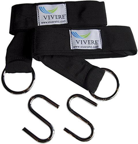Vivere EFHTS Hammock Accessories, Black by Vivere