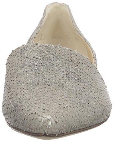 Högl Damen 1-10 0038 Geschlossene Ballerinas Silber (7700)