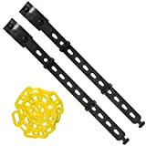 Mr. Chain - Connect-All Kit – Small - with 25 Feet of 2'' Yellow Plastic Chain - Connect to Bollards, Delineators, Post and More.