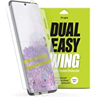 Ringke Dual Easy Wing Full Coverage (Pack of 2) Designed for Galaxy S20+ / S20 Plus Screen Protector Dual Easy Film Case Friendly Protective Film Screen Guard For Samsung Galaxy S20 Plus 5G