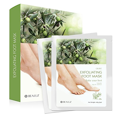 2 Pairs Exfoliating Foot Peel Mask - Peeling Away Calluses and Dead Skin Get Soft Feet Lavender by Bea Luz