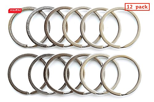 ngs Heavy Duty Stainless Steel Split Car Stationery Chains O Tag Loops Round Office Supplies Home Links Sewing Keychains Nickel Plated Flat Organizer Holder 30mm (Metal Key Tag Split Ring)