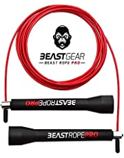 Beast Gear - Beast Rope Pro Advanced Speed Skipping Rope for Fitness, Conditioning & Fat Loss. Ideal for Crossfit, Boxing, MMA, HIIT, Interval Training & Double Unders