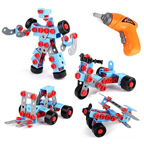 Educational Take apart Kids Toys - Stem Learning Construction Tool Engineering Electric TOY DRILL- Building Blocks Set Toys For Boys and Girls- AGES 3 - 12 yrs old Great GIFT for Kids