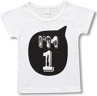 Ocean Plus Niños Camiseta Negra Blanco Algodón 1-6 Años de Edad Regalo de Cumpleaños Niña Tops Bebés Camiseta: Amazon.es: Ropa y accesorios