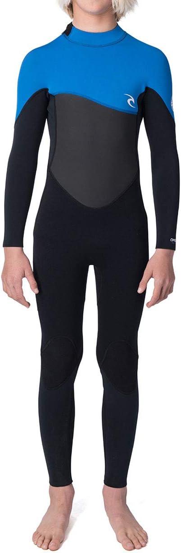 Rip Curl Junior Omega 4/3mm GBS Back Zip Wetsuit Blue - FreeFlex Neoprene in Action Panels - Hydroloc Collar