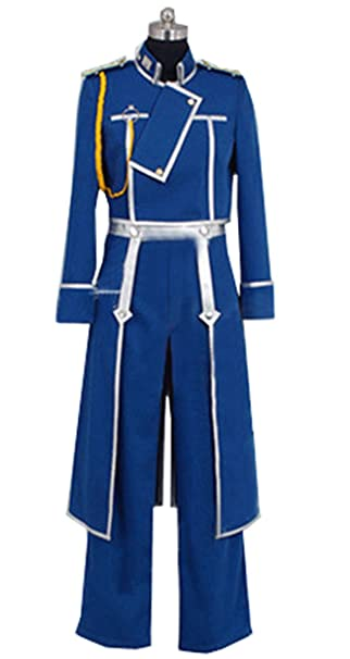 Amazon.com: cosnew Roy Mustang Anime trajes uniforme Cosplay ...