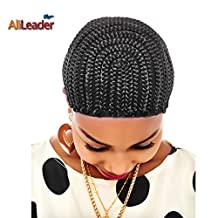 Black Cornrow Wig Cap With Swiss Lace For Wig Making Wig Cap with Combs Invisible Hair Nets from AliLeader