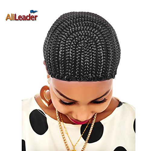 [Black Cornrow Wig Cap With Swiss Lace For Wig Making Wig Cap with Combs Invisible Hair Nets from] (Cornrow Wigs)