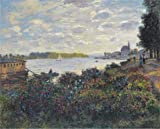 Planet Fitness Tanning Beds Oil Painting 'Claude Monet - The Seine At Argenteuil, 1877', 8 x 10 inch / 20 x 25 cm , on High Definition HD canvas prints is for Gifts And Basement, Garage And Home Office Decoration