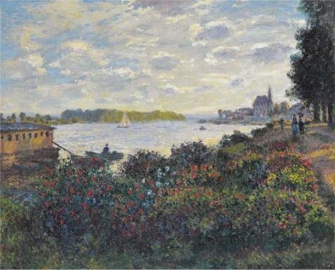 Oil Painting 'Claude Monet - The Seine At Argenteuil, 1877', 20 x 25 inch / 51 x 63 cm , on High Definition HD canvas prints is for Gifts And - Download At Night Sunglasses