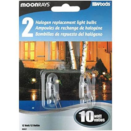 Moonrays 95517 10-Watt Halogen Bi-pin Replacements, 2 Pack - - Amazon.com