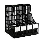 Desktop File Organizer 4 Slot Office Book Shelf Document Storage Rack Plastic Notebook Home School Magazine Holder
