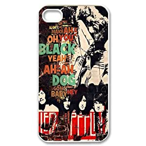 Led Zeppelin Band Poster Hard Plastic phone Case Cover For Iphone 4 4S case cover FAN220057