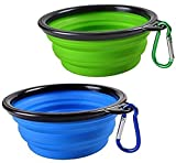 2-Pack Silicone Collapsible Pet Bowl Cat & Dog Portable Water Food Dish Feeder by Angle_/26