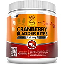 Cranberry Treats for Dogs - With Cran-Max for Urinary Tract & Bladder Health - Antioxidant Supplement for UTI Support - D-Mannose & Organic Marshmallow + Licorice - 90 Chicken Liver Chews