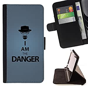 DEVIL CASE - FOR Sony Xperia Z1 L39 - Funny I Am The Danger - Style PU Leather Case Wallet Flip Stand Flap Closure Cover