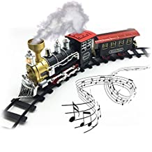 Electric Train Set for Kids - Classic - Real Smoke - Authentic Lights & Sounds – Full Set with Tracks