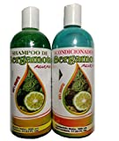 Bergamot Shampoo and Bergamot Conditioner ( SET ) 500 ml ea. 100% Natural, Hair Regroth & No more Dryness. Volume, Thickness and Brightness