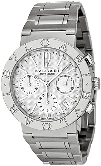 ed77ade2ab2 Bvlgari Bvlgari Off White Chronograph Dial Stainless Steel Automatic Mens  Watch BB38WSSDCH-N