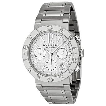 bvlgari bvlgari off white chronograph dial stainless steel bvlgari bvlgari off white chronograph dial stainless steel automatic mens watch bb38wssdch n