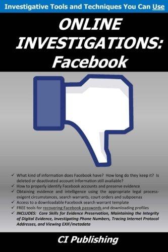ONLINE INVESTIGATIONS: Facebook (Volume 2)