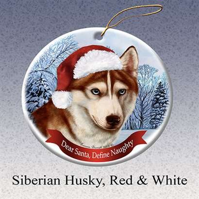 Amazon Com Holiday Pet Gifts Siberian Husky Red White Santa Hat