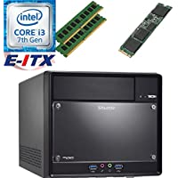 Shuttle SH110R4 Intel Core i3-7100 (Kaby Lake) XPC Cube System , 8GB Dual Channel DDR4, 960GB M.2 SSD, DVD RW, WiFi, Bluetooth, Pre-Assembled and Tested by E-ITX
