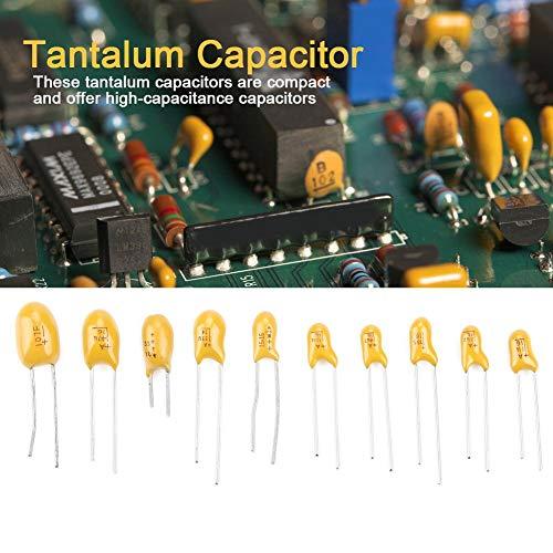 16Vコンデンサ、100個10値16V 1 uf-100 ufタンタルコンデンサ箱入り電源モジュール付きキット各種電子コンデンサ