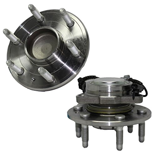 Detroit Axle - 2WD Front Driver and Passenger Side Wheel Hub and Bearing Assembly for - 2WD Tahoe, Silverado 1500, Sierra 1500-6-Lug