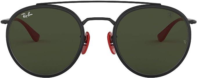 Amazon Com Ray Ban Rb3647m Scuderia Ferrari Collection Gafas De Sol Redondas Negro 51 Mm Shoes