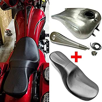 Indented 6.6 GAL Custom Stretch Fuel Gas Tank For Harley Touring Bagger 08-19